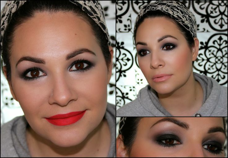 A dramatic smokey eye tutorial with two different lip options. I prefer the bright lip! Do you?