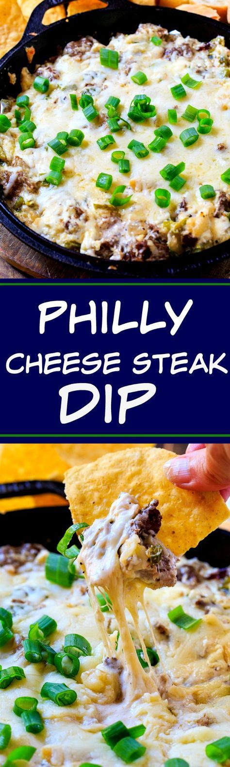 Philly Cheese Steak Dip- perfect for game day!