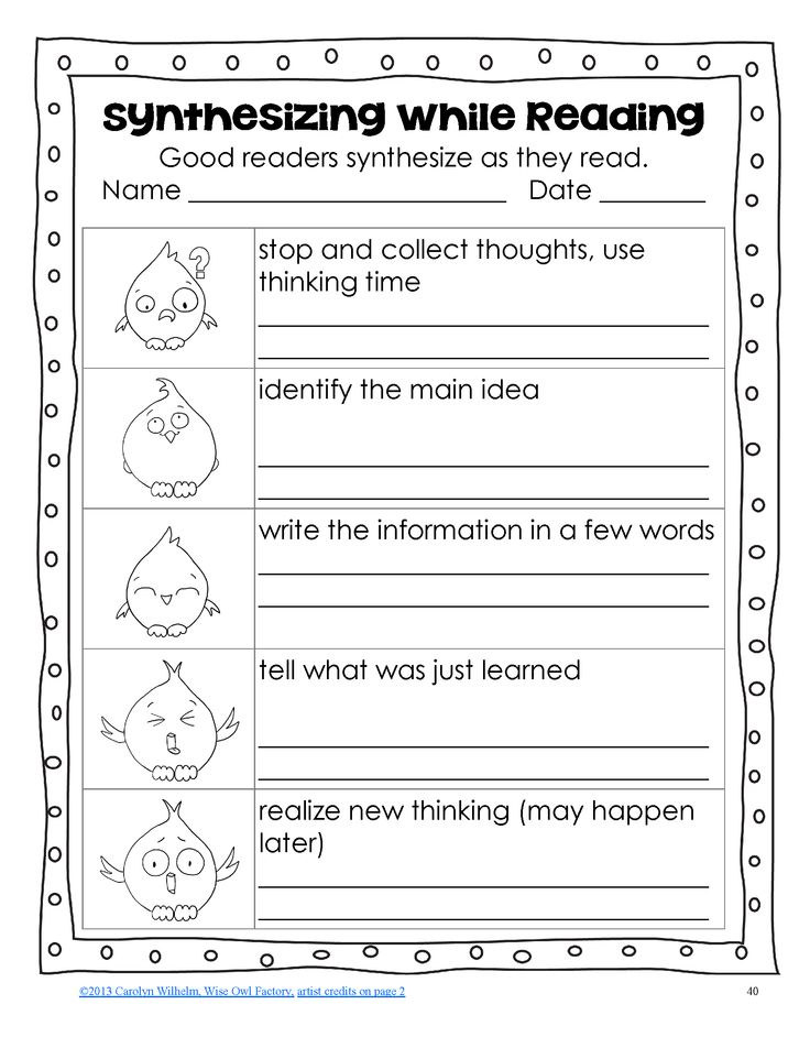 reading comprehension synthesising