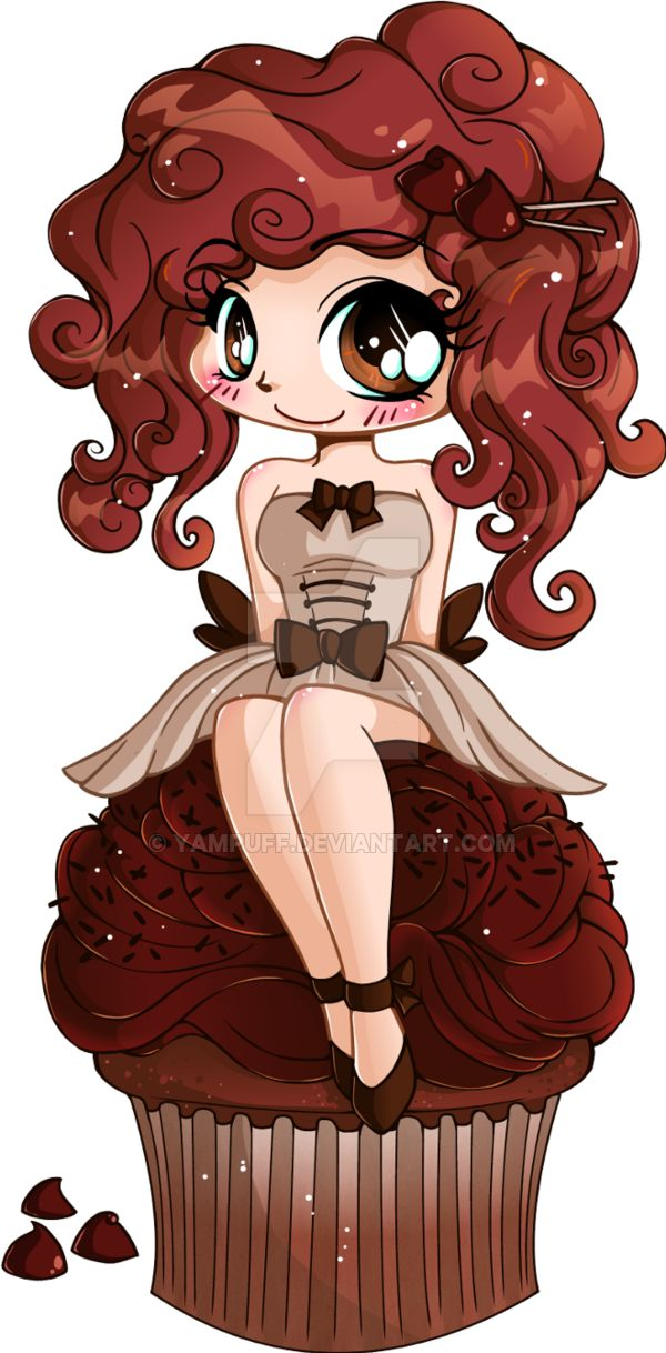 EDIT: Cupcake Girl now has fingers and I've fixed a few minor details like some lineart and shading issues. :3 Apparently she's my 300th deviation! How fitting. I swear by the time I finished this ...