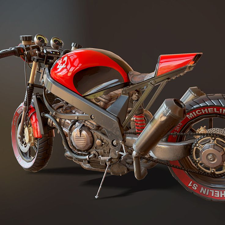 Honda vfr 750 game model. Based on my own motorcycle. ~25000 k tris