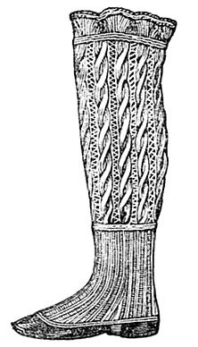 Stitch-O-Rama Free Pattern Emporium: Ladies' Knit Gaiters, 1857