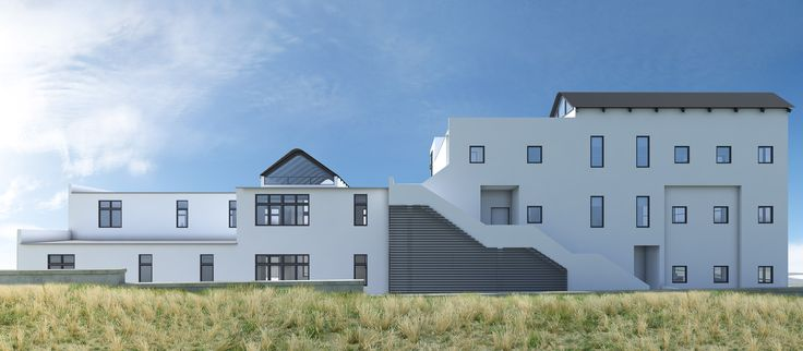 A view from the side of the Big Bay Office Park #architecture #capetown #3D