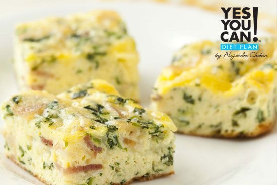 Turkey Ham Frittata - A healthy option for your Yes You Can! Diet Plan breakfast