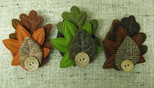 autumn leaf corsages