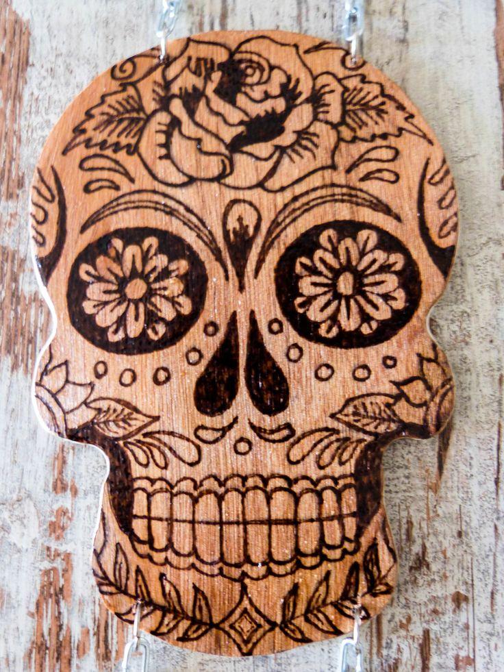 trilogie t te de mort mexicaine pyrogravure muerte et cr ne mexicain pinterest. Black Bedroom Furniture Sets. Home Design Ideas