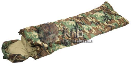Saco de dormir de piloto, MILTEC, en color woodland (camuflaje).