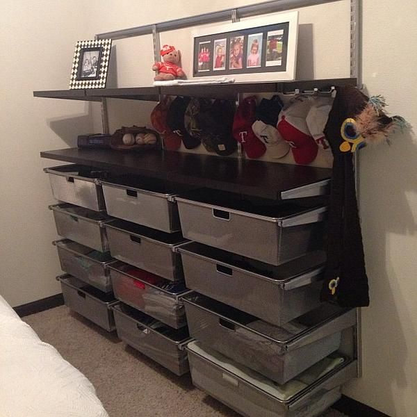 The Container Store Gt Platinum Elfa Hanging Mesh Drawer