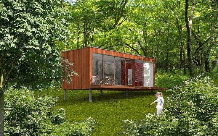 Micro-maison préfabriquée / modulaire / contemporaine / écologique - EK 009 - ekokoncept, wooden prefabricated buildings, d.o.o