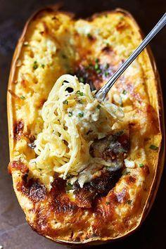 Baked Four Cheese Spaghetti Squash | Eatwell101