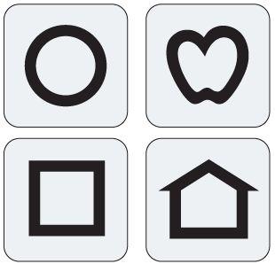 LEA Symbols replacement flash cards