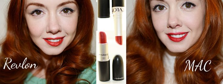 Lipstick Comparison: MAC Ruby Woo vs Revlon Really Red by Forever AmberForever Amber