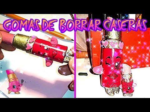 DIY GOMAS DE BORRAR  CASERAS SHOPKINS LIPPY LIPS | HOW TO MAKE HOMEMADE ...