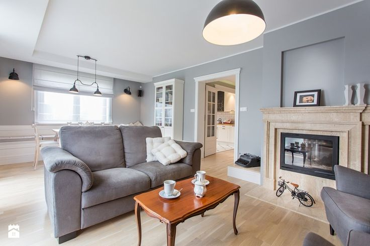 Dom nad Wisłą - Średni salon z jadalnią, styl skandynawski - zdjęcie od emDesign home & decoration