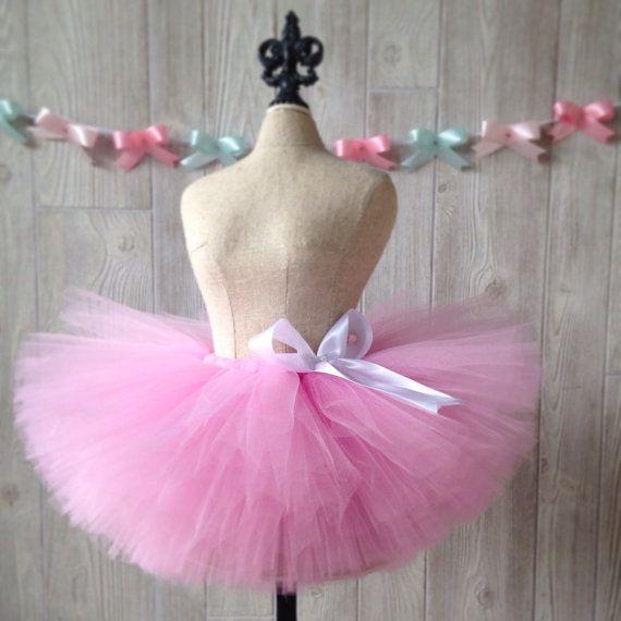 Perfectly Pink Tutu Sewn Tutu Fluffy Tutu Newborn Tutu by Lexiana