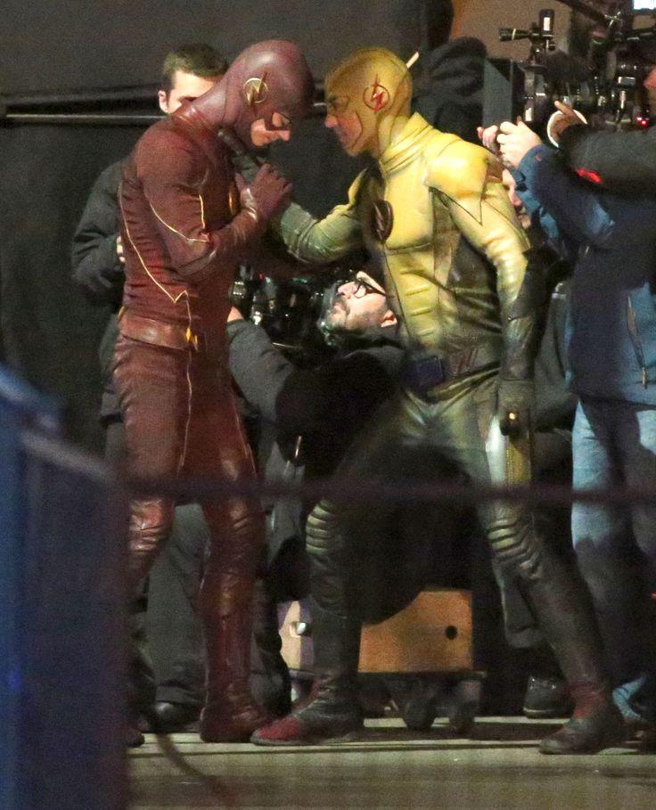 The Flash vs Reverse Flash filming