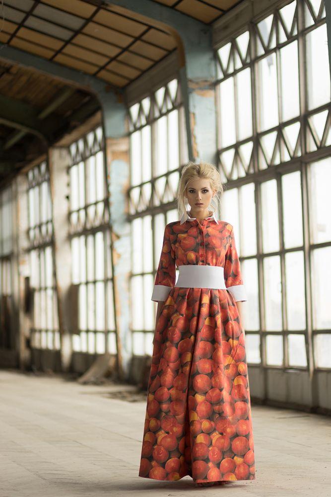 Длинное платье c принтом от Olga May, 39016