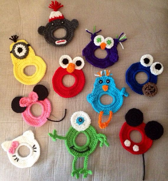 Crochet Camera Buddies Set by AshleesCrochet on Etsy would like Minnie, sock monkey, and one other