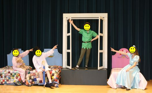 Peter Pan Jr. Costume and Set Pics. Styrofoam head boards?