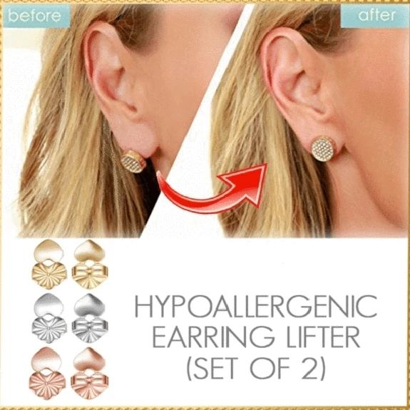 Fashion Gold Silver Stud Hypoallergenic Earring Lifter