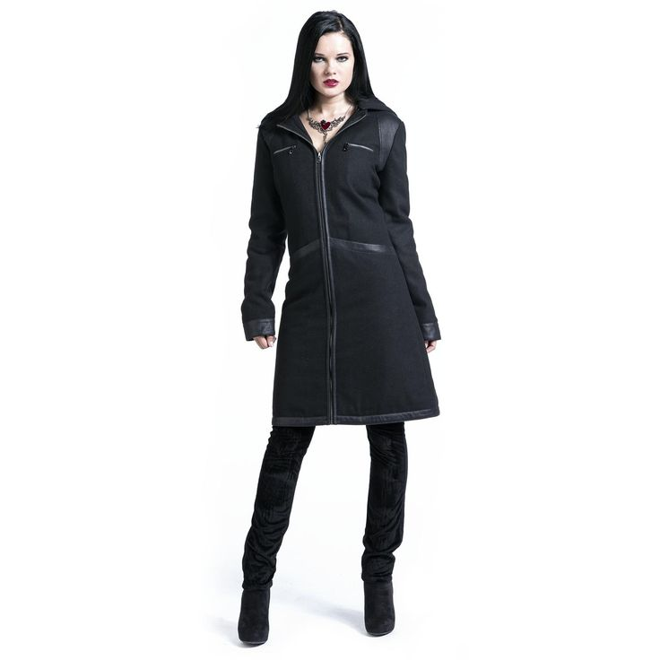 "Gothicana by EMP Wintermantel, Frauen ""Black Love Coat"" schwarz • EMP"