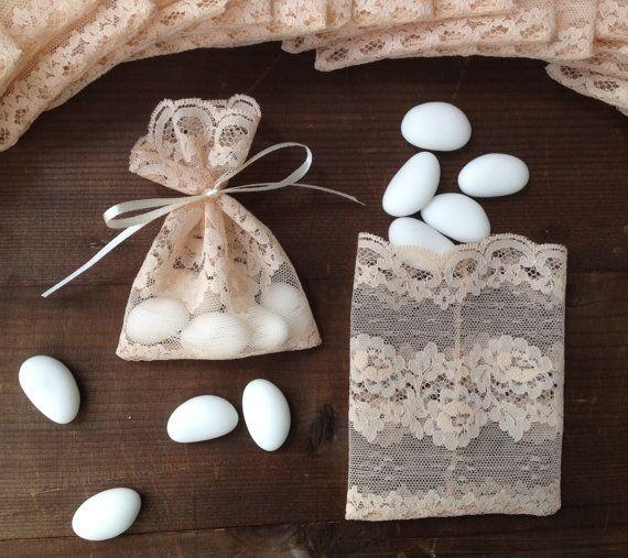 Baptism Favor Bags, Bridal Shower, Vintage Wedding, Gift Bag, Italian Wedding, Party Favors, Wedding Favors, Thank You Bag