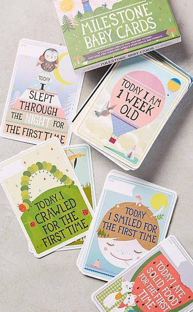 Milestone Baby Cards #anthrofave