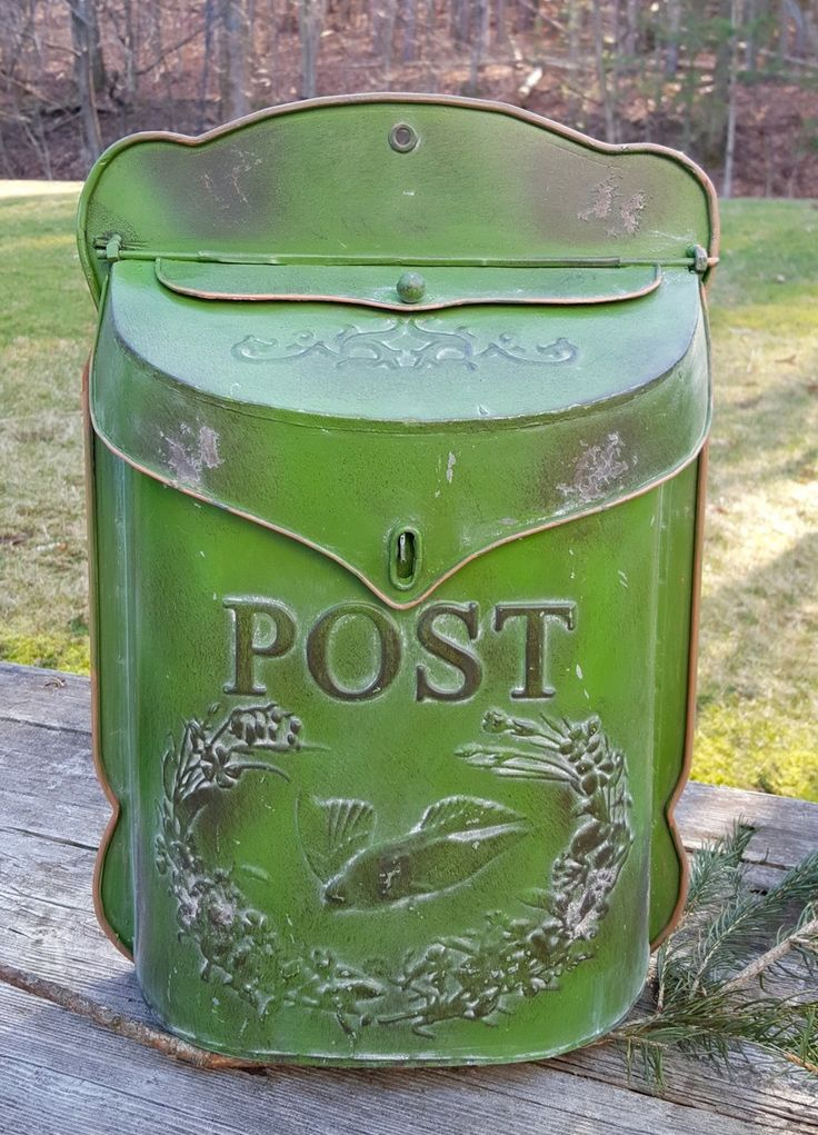 French Country Painted Post Box Green - Marmalade Mercantile