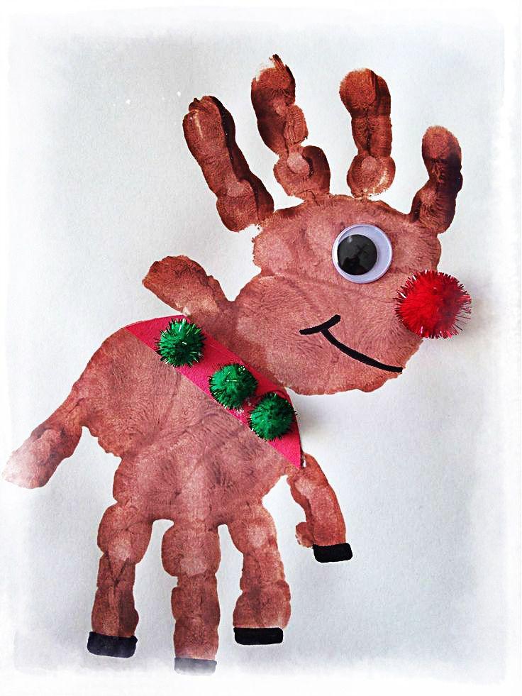 Soy Preescolar: #Ideas para #Diciembre. | Si quieres que se hermoso, creativo y puro como el espíritu de la Navidad, deja que las manos de tus pequeños se hagan cargo. Ya viene nuestro querido amigo Rodolfo el Reno. ツ | Innovación #Preescolar; #Manualidades para la #Escuela