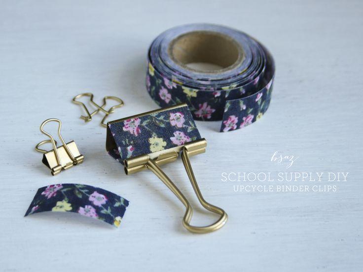 Clips decorados con cinta adesiva                                                                                                                                                                                 Más