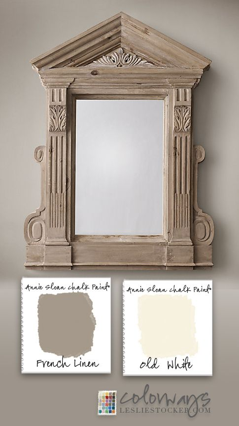 """The best example of the popular """"Restoration Hardware Finish"""" is on a piece from Restoration Hardware. This is the Circa 1870 French Pediment Mirrorand is currently available on the ..."""
