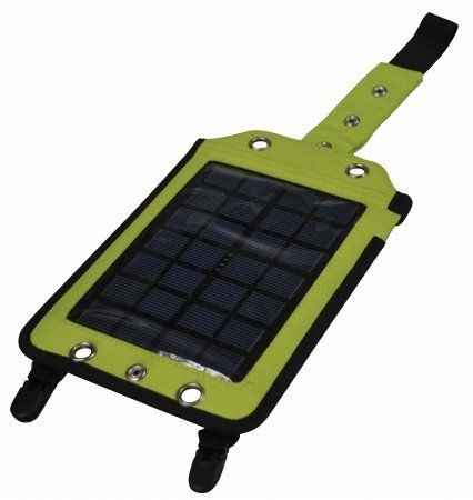 Athena Brands 7402 Ray N Go2 - Lime by Athena. $39.99. USB 5V ~ 500 mAh output.. 9.7 x 6.7.Included adapters:. 2-watt polycrystalline solar collector.. Rechargeable 3.7V ~ 600 mAh Lithium Ion battery.. Water resistant nylon fabric.. A high performance 2-watt solar collector and battery storage device. Use solar energy immediately or store it for use later. Includes solar efficiency meter for optimal placement in the sun and three adapters. Fully charge most devices...