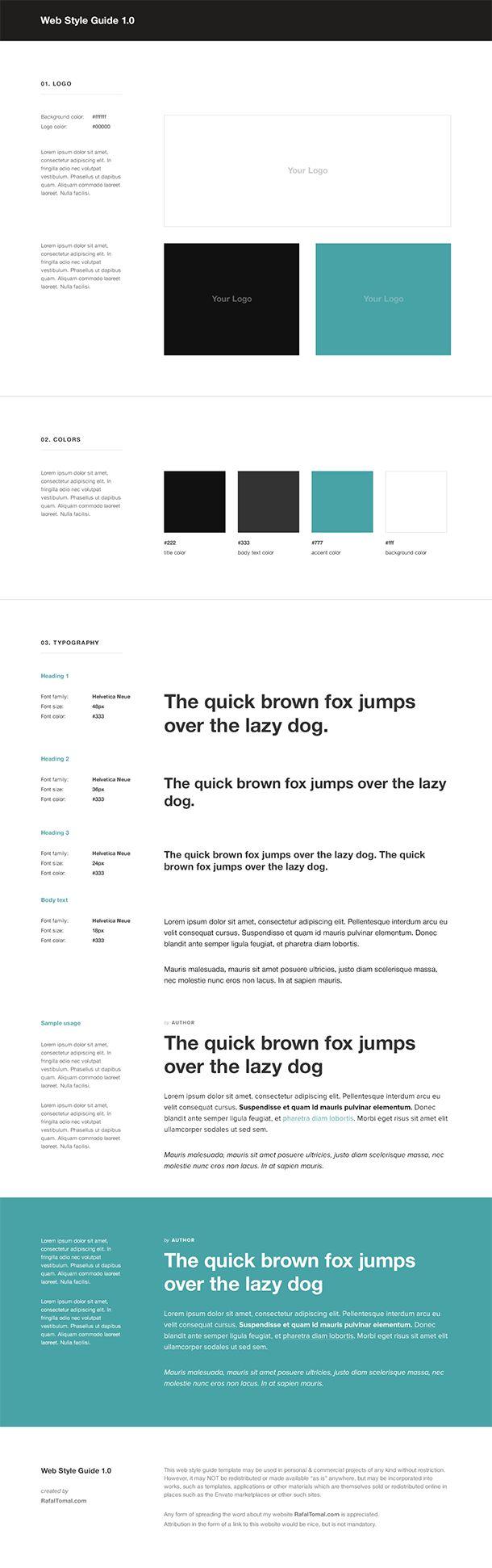 Web Style Guide Template - RafalTomal.com