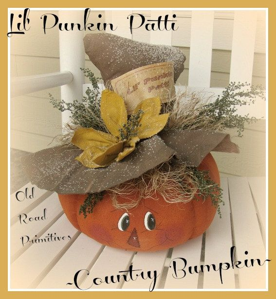 Primitive Lil' Punkin Patti Country Bumpkin por OldRoadPrimitives