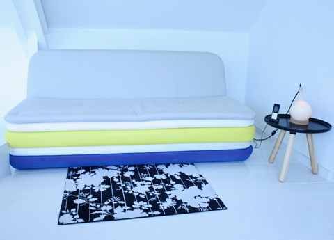 Design couch and carpet - Hotel Droog Amsterdam