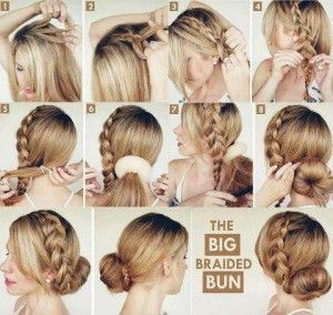 Recogido con trenza y moño, encuentra más peinados recogidos paso a paso en http://www.1001consejos.com/peinados-recogidos-paso-paso/