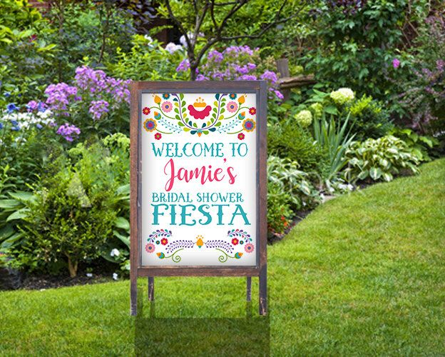 Fiesta Poster Sign- Welcome Sign -Fiesta Bridal Shower Sign-Wedding- Mexico- Cinco de Mayo- Personalized-YOU PRINT by Hottomatoink2 on Etsy https://www.etsy.com/listing/467057620/fiesta-poster-sign-welcome-sign-fiesta