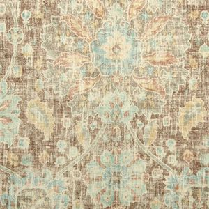 Thisbeautifulbrown,pale teal and tan floral washed look printed velvet is a perfect fabric for any upholstered item, pillows, cornices and headboards.v001PFEF