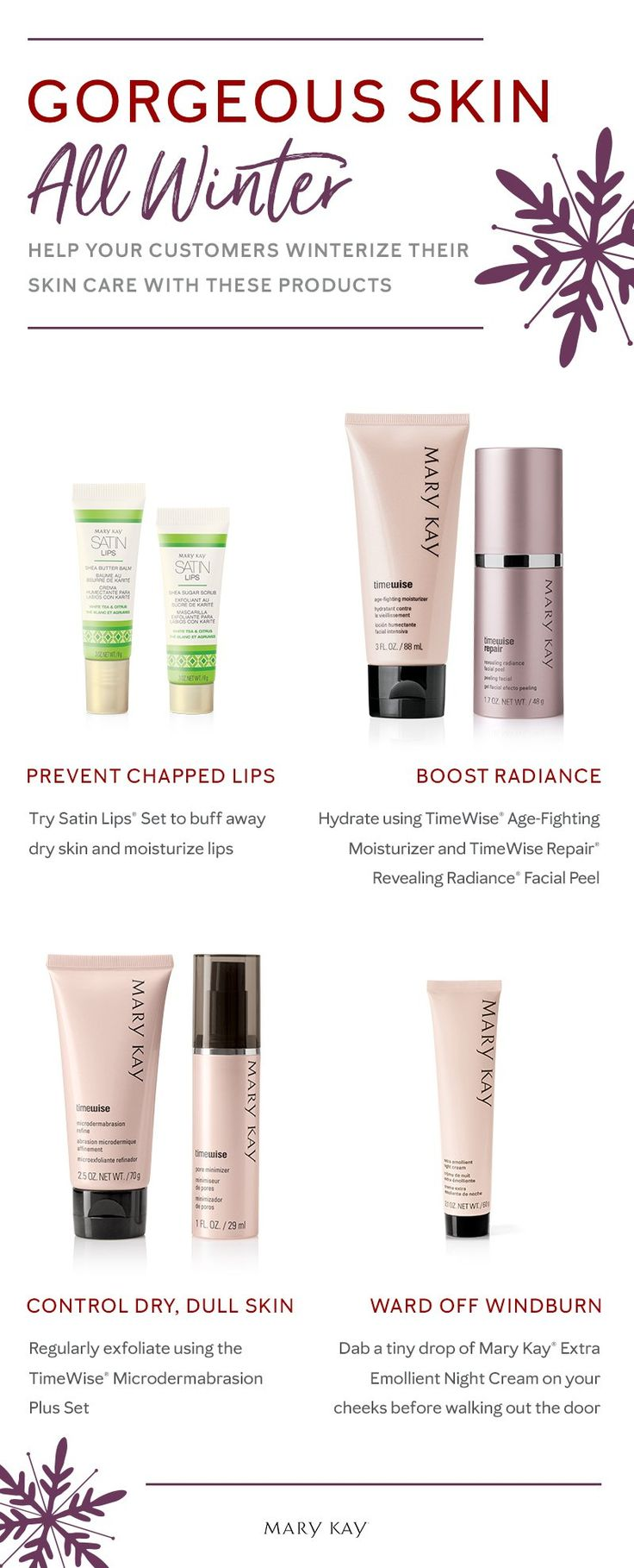 'Tis the season for serious skin care. Help customers treat dry, winter skin with hydrating sets that moisturize from head to toe. | Mary Kay