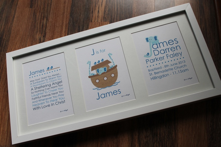 Personalised Boys Christening gift
