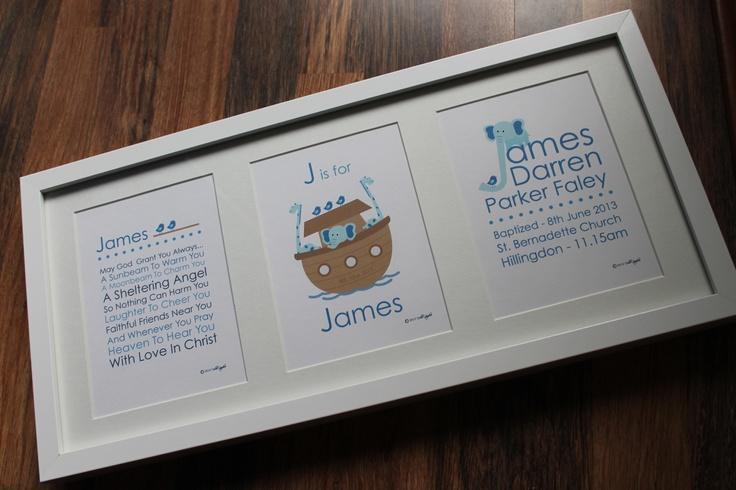 Personalised Boys Christening gift