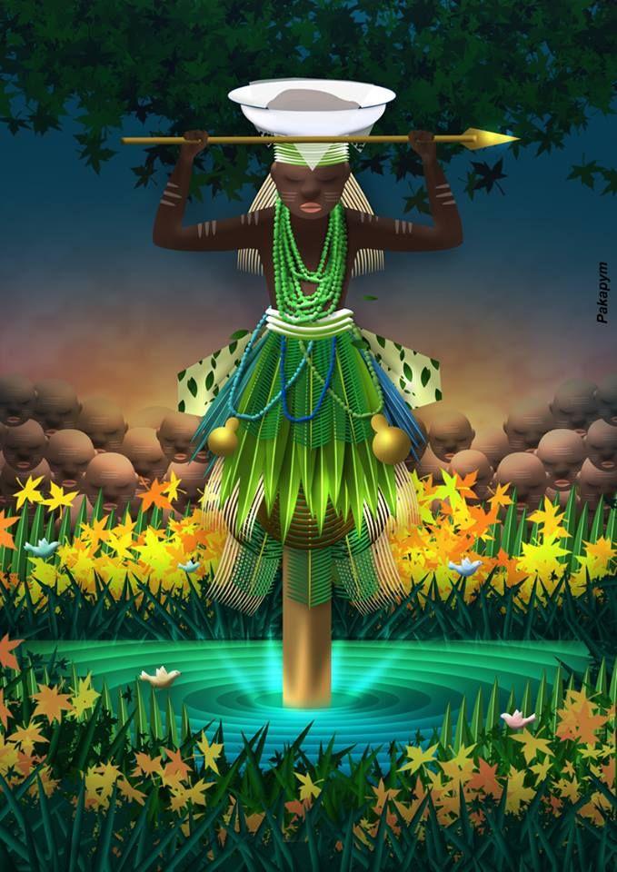 ♫ Guerreiro de Tribo Valente / A brisa da mata é meu ser / Coragem eu trago na frente / Que Oxóssi me dá, pra vencer ♫