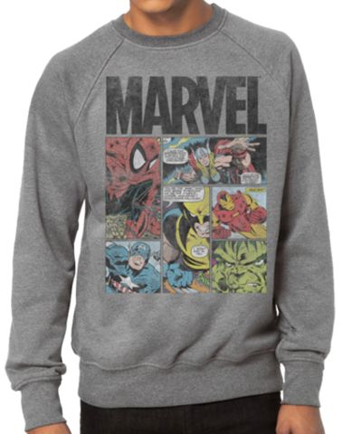 MARVEL FLEECE - HEROES PANELS | Jack of all Trades Clothing | superhero t-shirts for guys