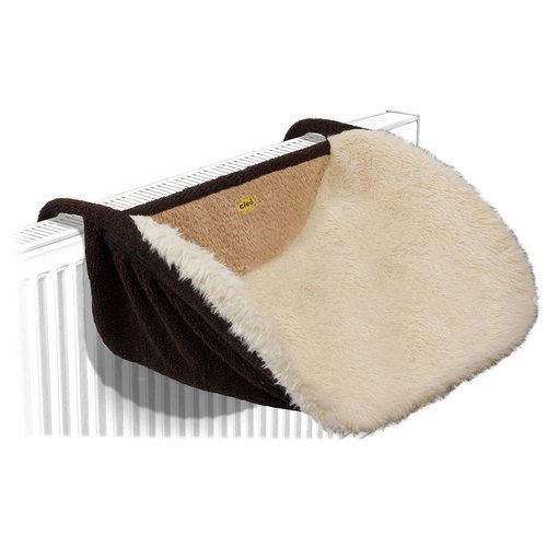 Large Deluxe Cat Radiator Bed - Fawn Slub