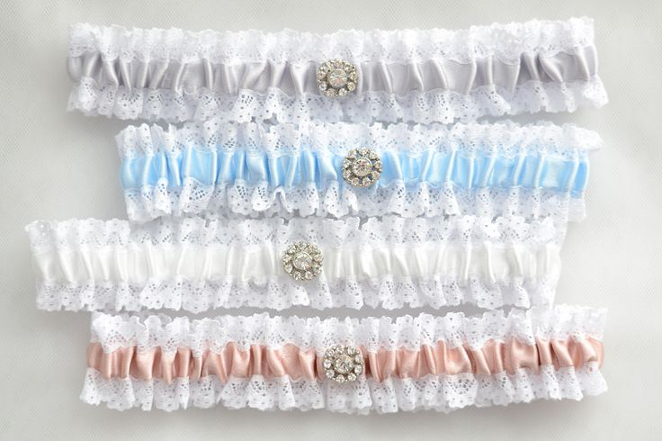 Lace wedding garters, bridal garters, crystal garters, ivory garter, light grey garter, something blue garter, dusty pink garter