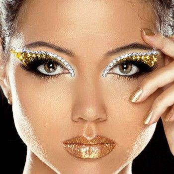 Xotic Eyes Deluxe Stage Makeup Kit - GOLDEN GODDESS