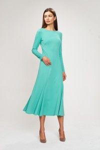 Платье с юбкой годе из итальянского трикотажа.