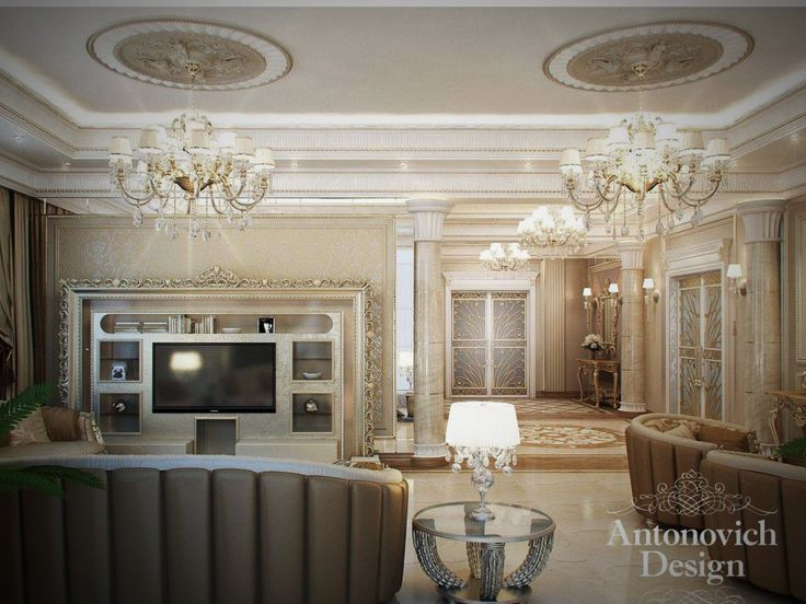 classic wall units living room antonovich design create a classic and luxury home living 20076