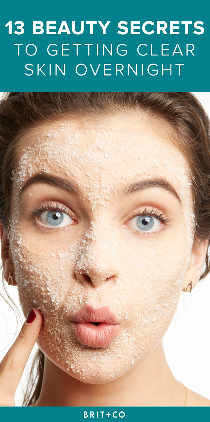 Bookmark these simple beauty secrets + tips to help you get clear skin…