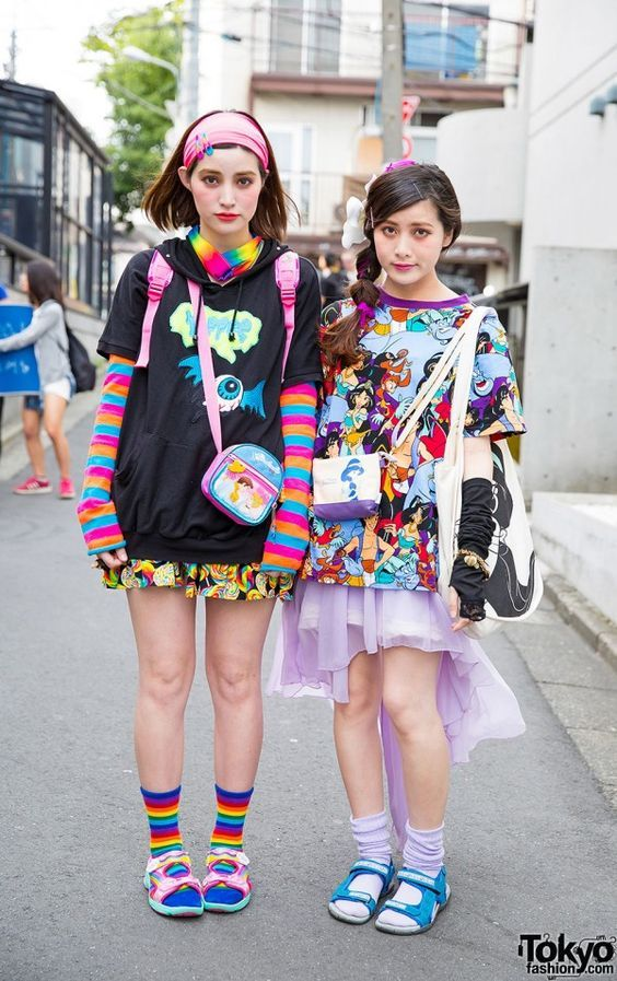 Harajuku Sisters W Colorful Fashion Cute Accessories Disney Spinns Wego